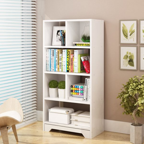 Modern Bookcase White for Home Office Type B