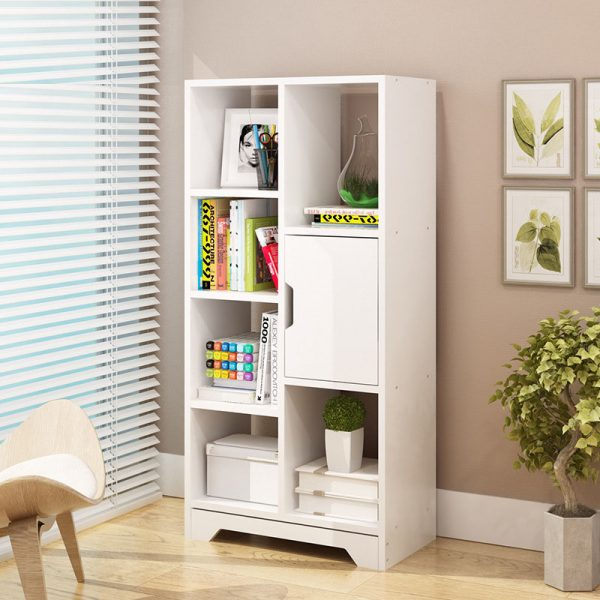 Modern Bookcase White for Home Office Type C