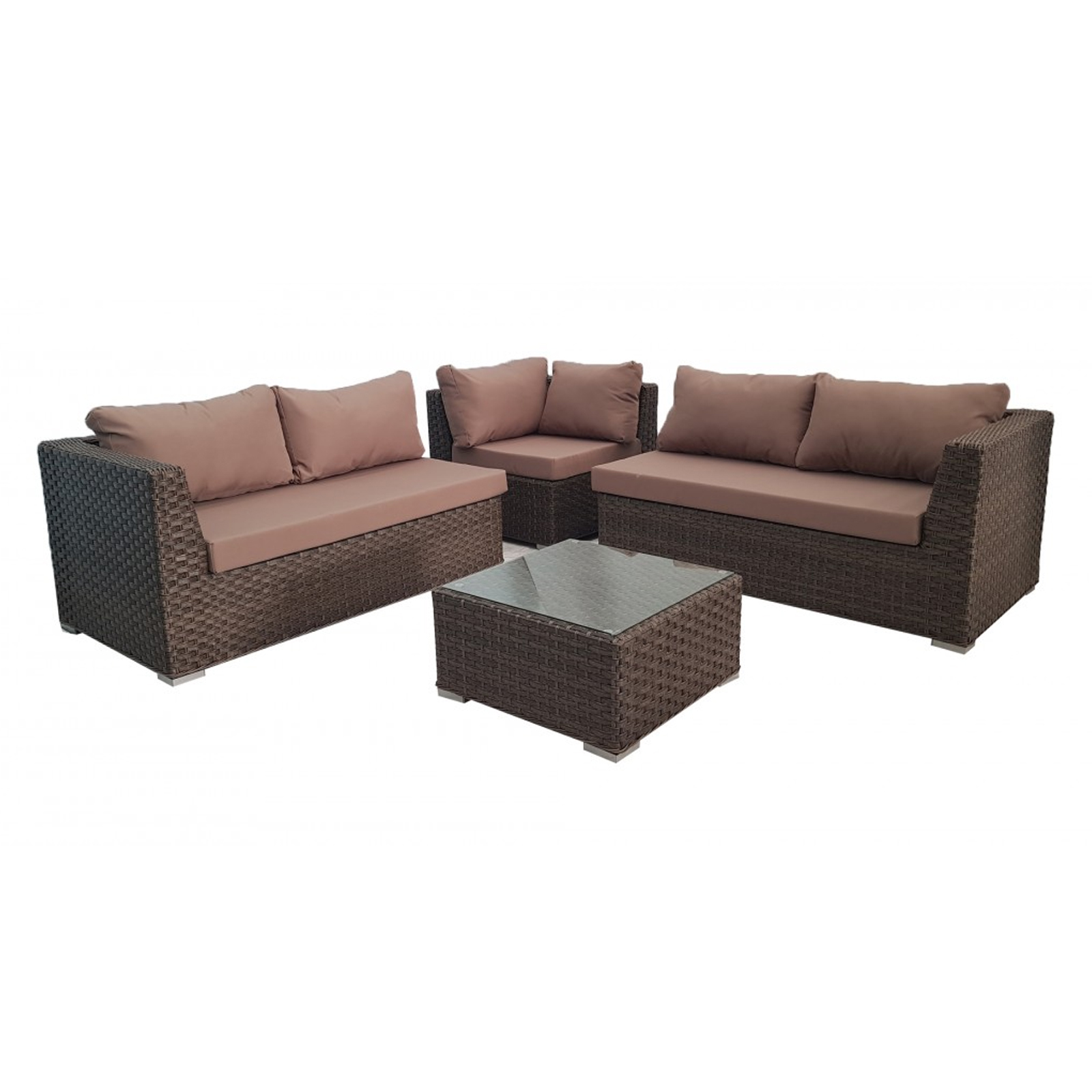 Alexandria Rattan Corner Sofa Reviews: Brown Outdoor Wicker Rattan Sofa Corner Lounge Set