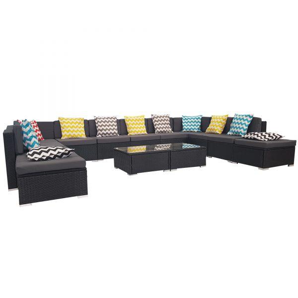 14Piece Rattan Wicker Outdoor Furniture Set Sofa