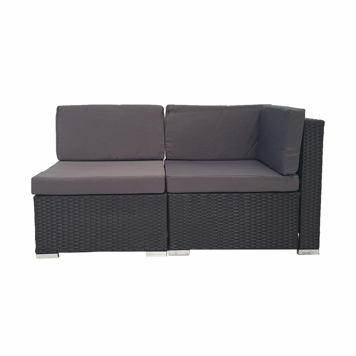 2 Piece Outdoor PE Rattan Wicker Furniture Sofa Set