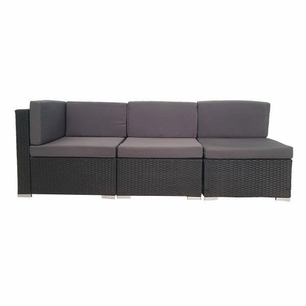 3 Piece Outdoor PE Rattan Wicker Furniture Sofa Set