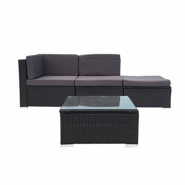 4 Piece Wicker Outdoor PE Rattan Furniture Sofa Set