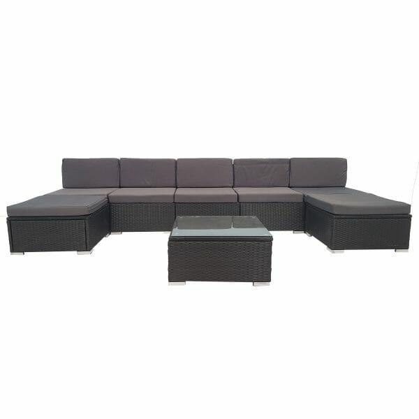 8 Piece Wicker Outdoor PE Rattan Furniture