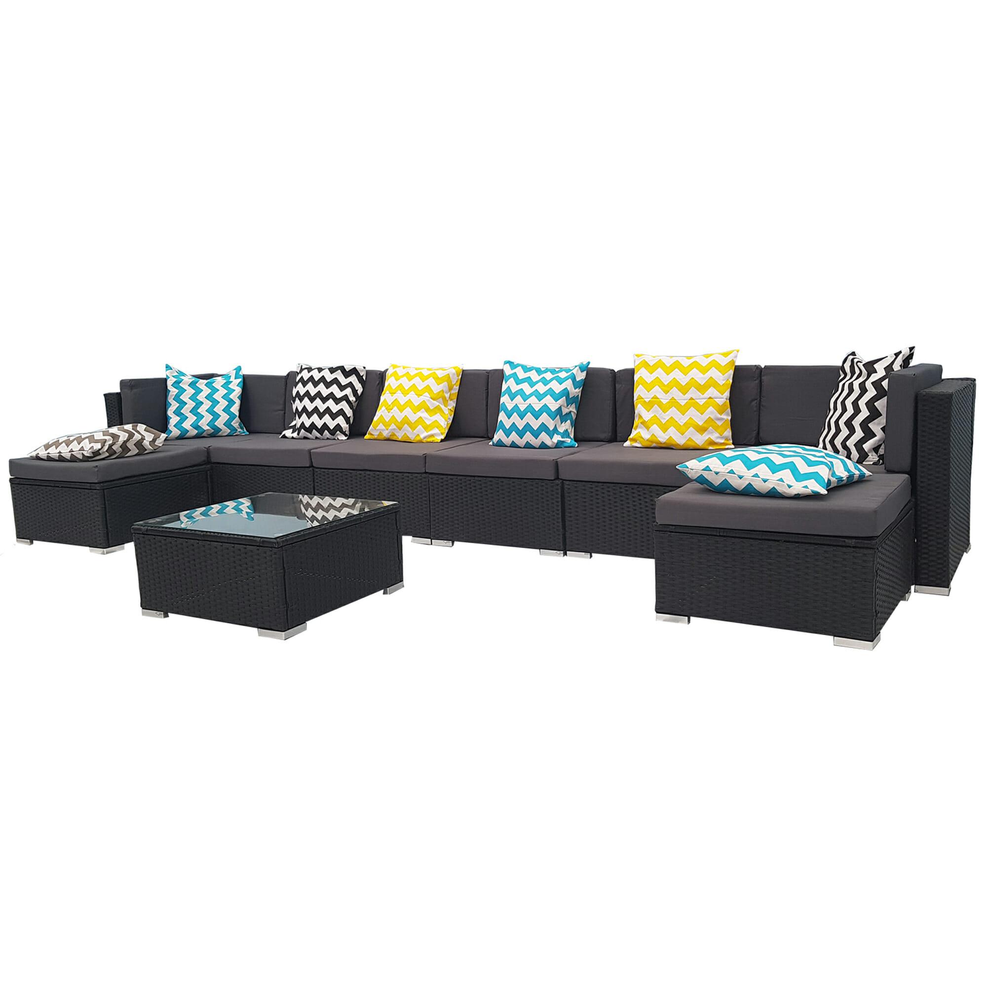 Pe Wicker: 9 Piece Wicker Outdoor PE Rattan Furniture