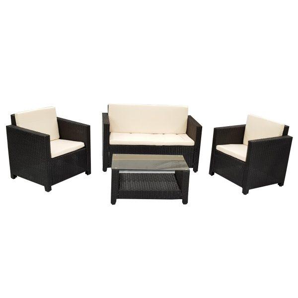 4 Piece New Outdoor Furniture Set PE Wicker